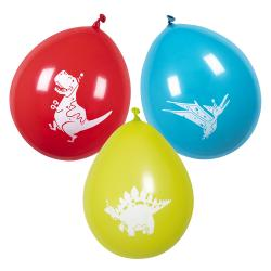 6 Latex Ballons Dino Party 25cm